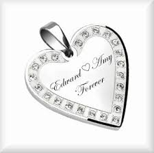 custom engraved heart necklace personalized heart necklace engraved heart necklace