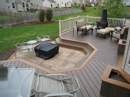 designing a patio with easy to install interlocking outdoor deck
