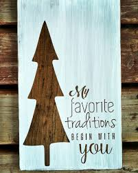 christmas sign holiday decoration family traditions tree