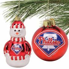 philadelphia phillies mini blown glass ornament set philadelphia