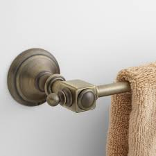Antique Brass Bathroom Accessories by Vintage Towel Bar Bathroom