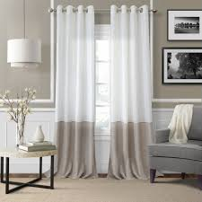 Linen Sheer Curtains Bed Bath And Beyond by Amazon Com Elrene Home Fashions Melody Sheer Window Panel 52 Inch