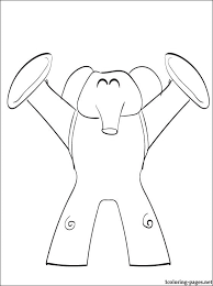 elly pocoyo coloring coloring pages