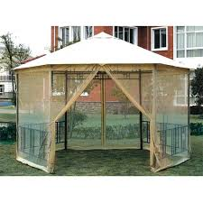gazebo covers replacement gazebo covers go lighted replacement canopy and net