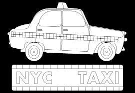 new york city taxi cab free online coloring page