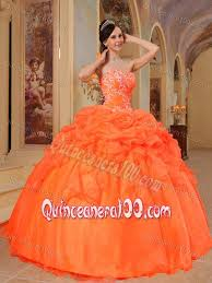 orange quinceanera dresses gorgeous 2014 orange with bubbles and flowers 16 gown