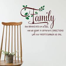 family like branches wall sticker quote by snuggledust studios wall stickers