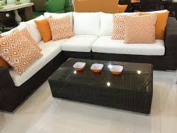 Outdoor Living Room Furniture Outdoor U0027living Room U0027 Furniture Set L Shaped Modular Sofa Mod