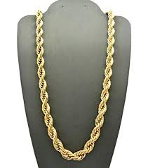 gold braided rope necklace images 14k gold plated dookie rope chain 8mm 30 quot necklace jpg