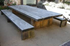 Plans For Wooden Picnic Tables by Table Picnic Table To Bench Seat Amazing Picnic Table Designs
