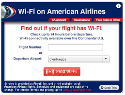 american airlines free wifi american airlines launches wi fi widget to give travelers a heads