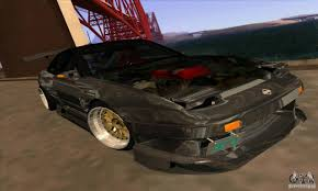 chrome nissan nissan 180sx gkon drift chrome for gta san andreas