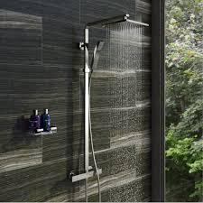 the space saving boston shower bath victoriaplum com tetra square head shower riser system