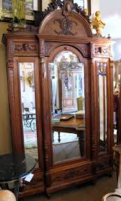 antique french armoire for sale antique carved 3 door beveled mirror french armoire for sale