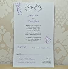 dove wedding invitation and rsvp by sweet pea design