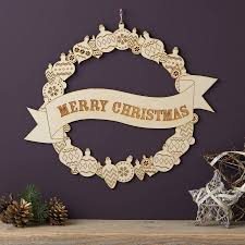 merry christmas wooden wreath merry christmas products and