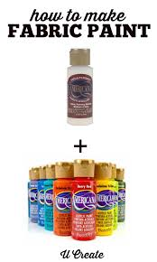 how to make your own fabric paint u create fabric painting