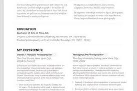 Photography Resume Sample by Creative Photography Resumes Resume Creative Dork By Creative