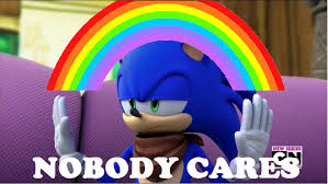 No One Cares Meme Spongebob - nobody cares sonic boom meme by brandonale on deviantart