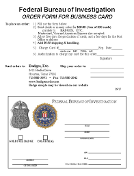 fbi bureau of investigation fbi badge business card