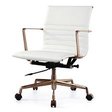 Modern White Chairs Incredible White Modern Office Chair Astonishing Decoration Modern