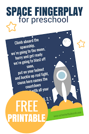 space fingerplay for preschool free printable no time for flash
