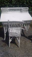 White Wicker Desk by Wicker Antique Desks U0026 Secretaries Ebay
