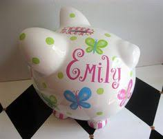 customized piggy bank custom painted ceramic personalized piggy bank m2m pottery