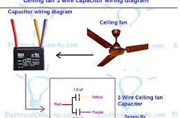 ceiling fan wiring kit ceiling fan 3 wire capacitor wiring diagram simbol pinterest