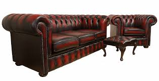 cheap chesterfield sofa chesterfield leather oxblood sofa 3 footstool leather