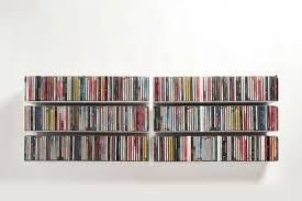 Vinyl Record Wall Mount Wall Mounted Shelf Contemporary Steel For Cds Ucd Teebooks