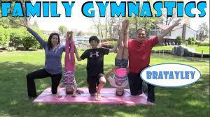 family gymnastics challenge bratayley