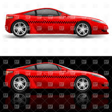 sports cars side view red sports car taxi coupe side view vector clipart image 17002