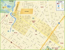 New Orleans French Quarter Map by New Orleans Esplanade Ridge Map