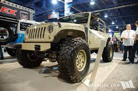 military jeep tan 2017 sema black forest jeep tan j8 l