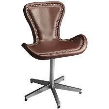 distressed leather office chair 2658