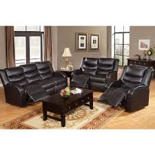 Black Leather Reclining Sofa And Loveseat Black Bonded Leather Motion Loveseat Reclining