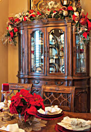 hutches for dining room dining room christmas decor hutch garland christmas garland