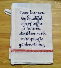 Kitchen Towel Embroidery Designs Coffee Dish Towel U2026 Pinteres U2026
