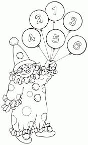 circus coloring pages clown with balloons