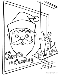 santa u0027s billboard printable christmas coloring pages coloring