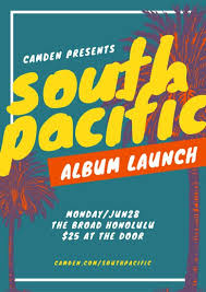 tropical photo album south pacific tropical album launch poster templates by canva
