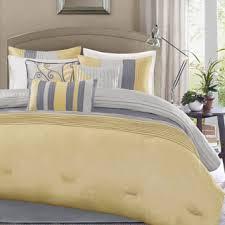 Overstock Duvet Madison Park Selma Yellow 7 Piece Comforter Set Overstock Com