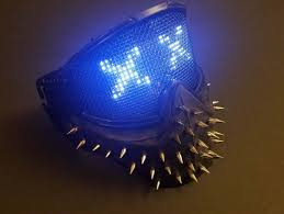 halloween voice changer party city wrench inspired led mask programmable leds