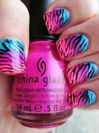zebra pattern nail art zebra print nail design ideas 2016 20 photos