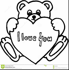incredible love you teddy bear drawings with i love you coloring