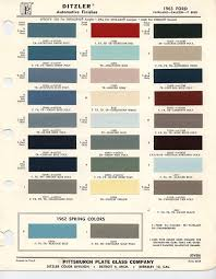 paint chips ditzler 1 commercial chevrolet corvair 95 1959 1961