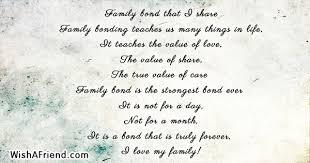 family bond that i family poem