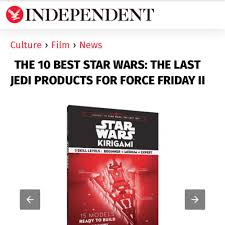 star wars kirigami featured on the independent u2014 paper dandy