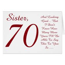 sisters 70th birthday cards greeting u0026 photo cards zazzle